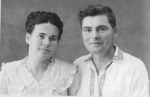 В.Будаговский с женой Екатериной Семеновной Черненко