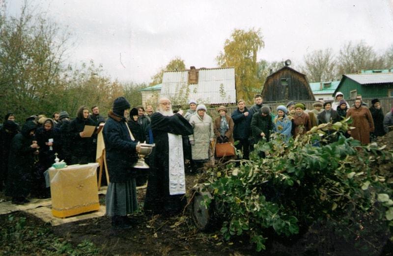 Освящение саженцев в саду Свято-Екатерининского монастыря
